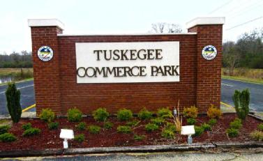 Tuskgee Commerce Park Sign